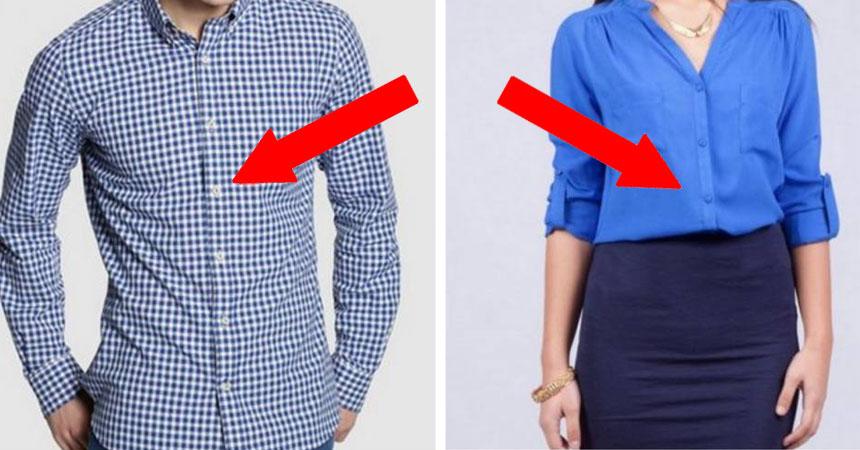 gran selección de c23f0 82c6a Por qué las camisas de hombres y mujeres tienen los botones ...